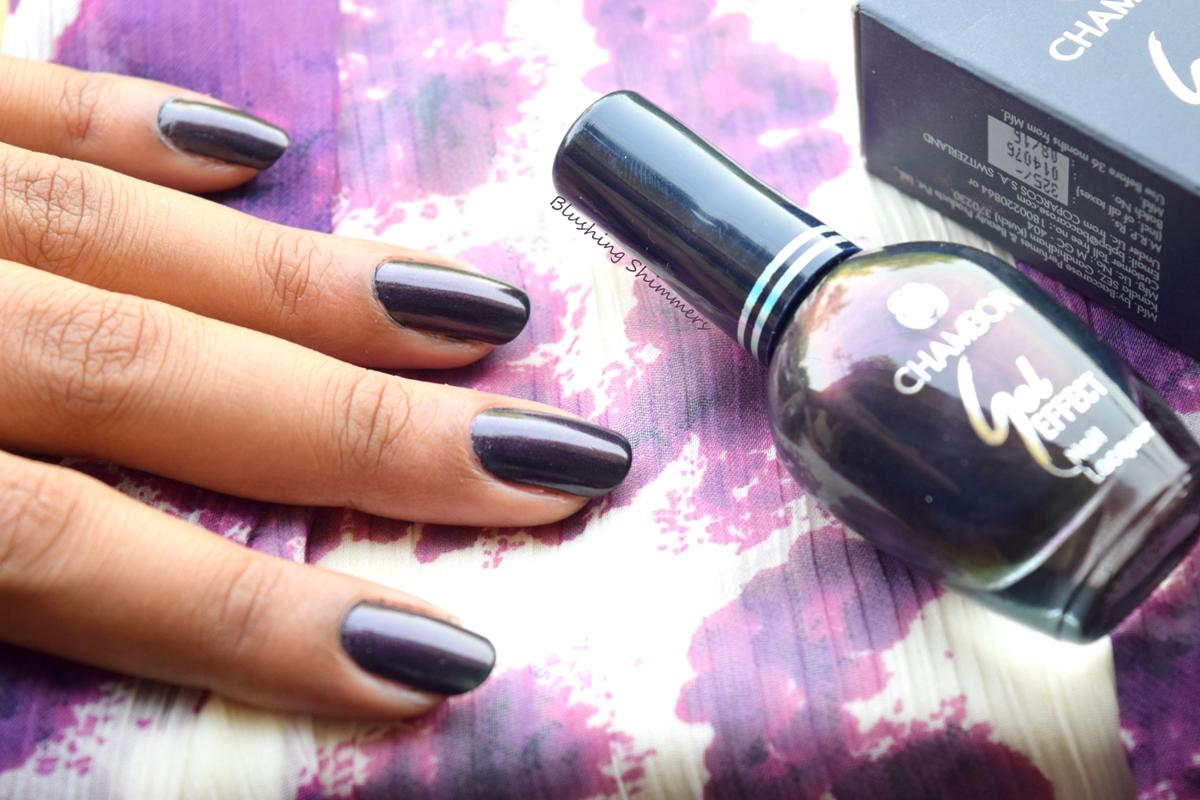 Chambor Gel Effect Nail Paint shades 606