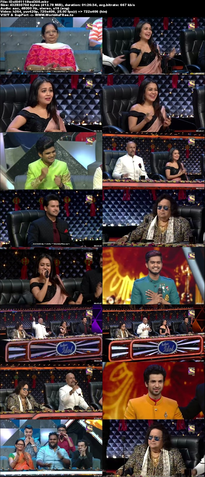 Indian Idol Season 10 04 November 2018 HDTV 480p 300Mb  world4ufree.vip tv show Indian Idol Season 10 hindi tv show Indian Idol Season 10  Sony Set  tv show compressed small size free download or watch online at world4ufree.vip