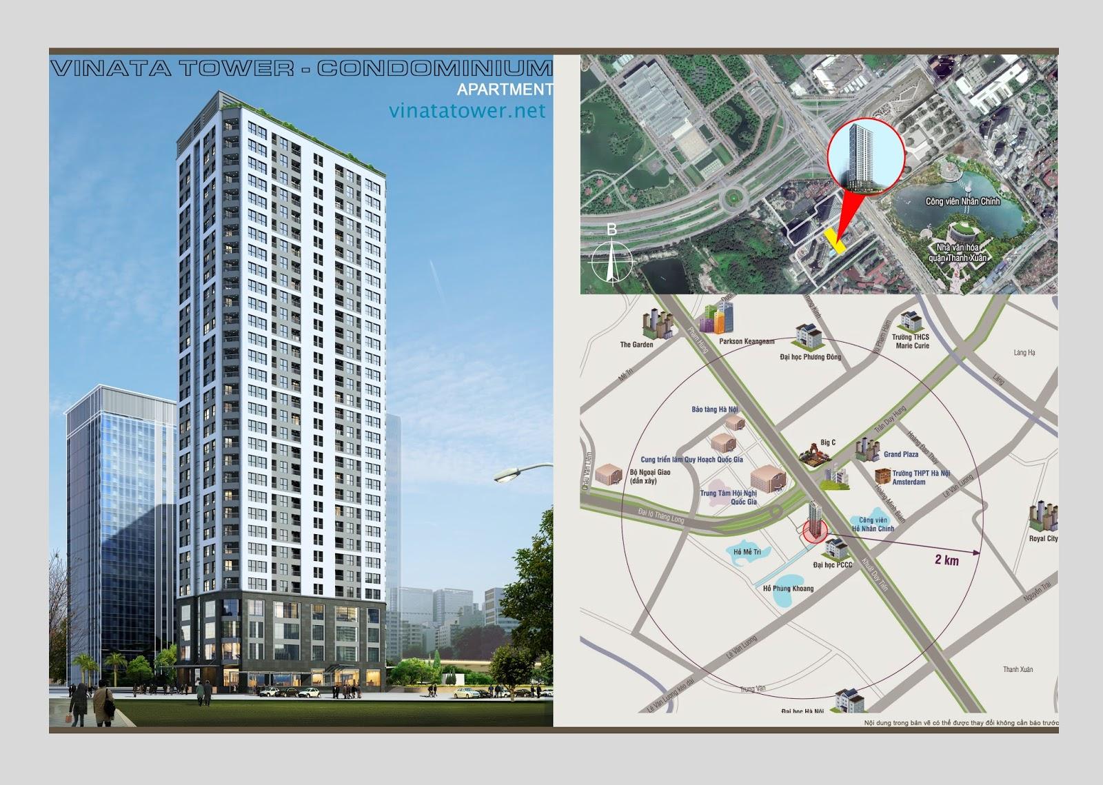 Vị trí chung cư Vinata Towers