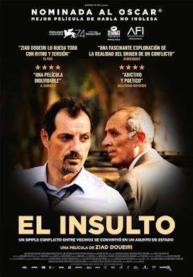 """EL INSULTO (""""L'insulte"""") - Cartel españa"""