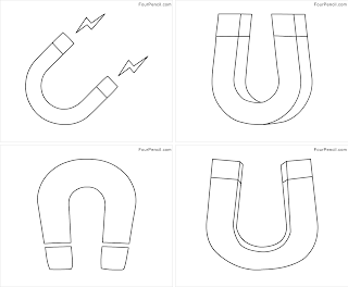 Four Coloring Free printable Magnet coloring pages for kids