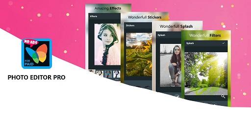تحميل افضل برنامج محرر الصور برو Filters, Sticker, Collage Maker النسخة المدفوعة مجانا
