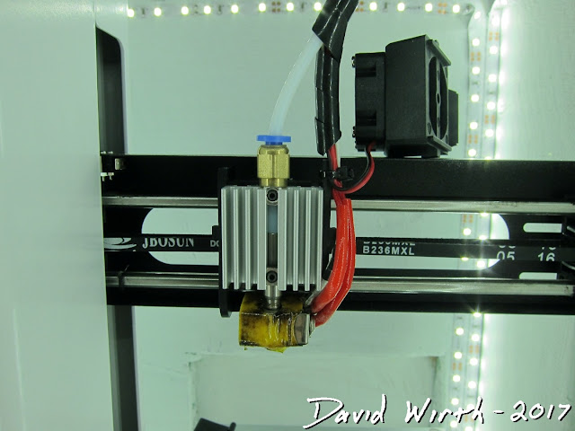 simple 3d printer hot end, extruder, mp select mini, maylan 200
