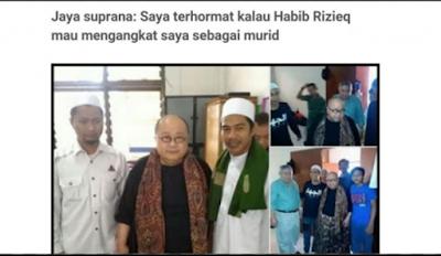 Pendiri Muri Jaya Suprana : Saya Terhormat Kalau Habib Rizieq  Mau Mengangkat Saya Sebagai Murid