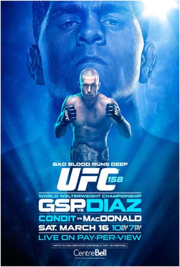 UFC 158: St. Pierre vs Diaz HDTV AVI + RMVB