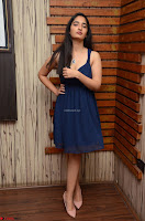 Radhika Mehrotra in a Deep neck Sleeveless Blue Dress at Mirchi Music Awards South 2017 ~  Exclusive Celebrities Galleries 077.jpg