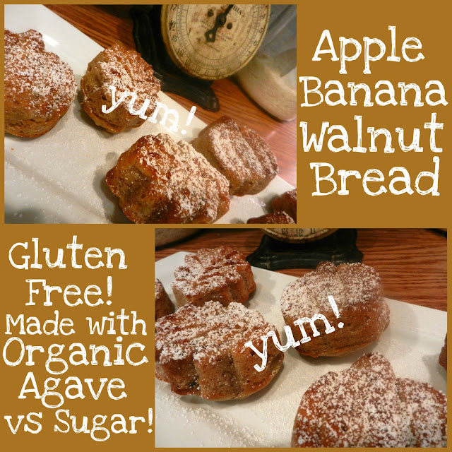 Gluten-Free Apple-Banana-Walnut Bread by The Everyday Home  #theeverydayhome #glutenfree #baking #recipe #fall #fallrecipes