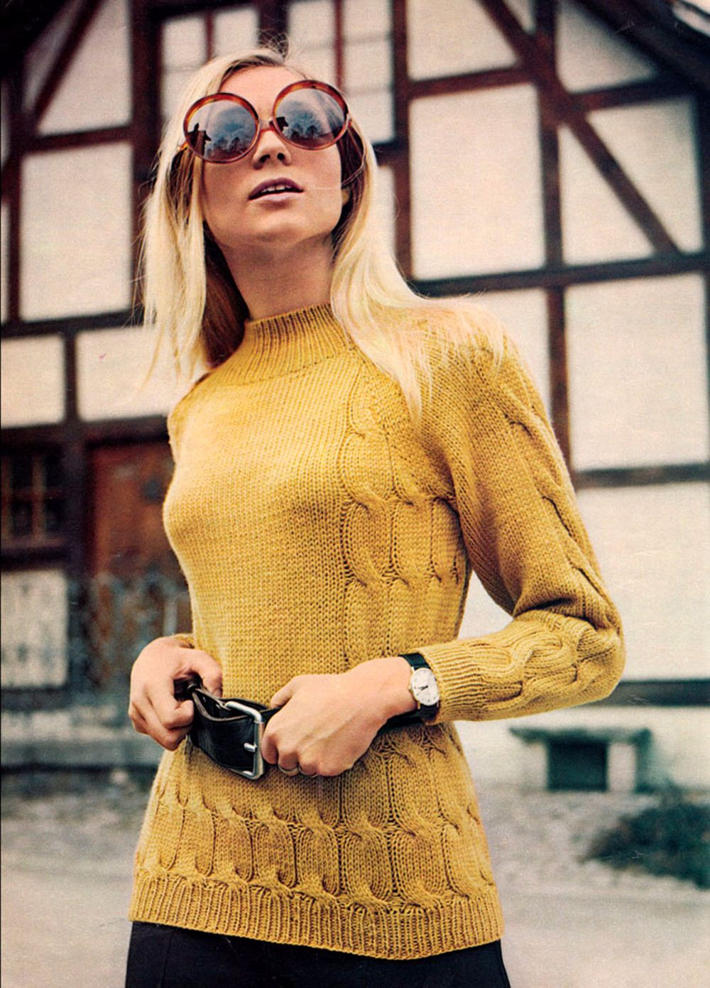 14 beautiful vintage knitted sweater coats for women from