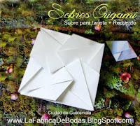 Venta  de sobres finos para boda en guatemala