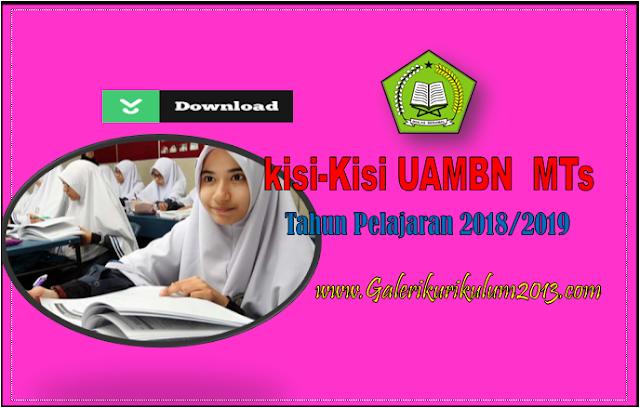 Kisi-Kisi UAMBN untuk MTs Tahun Pelajaran 2018/2019