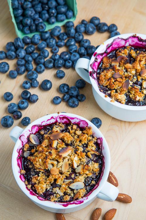 Blueberry Almond and Amaretto Quinoa Crisp