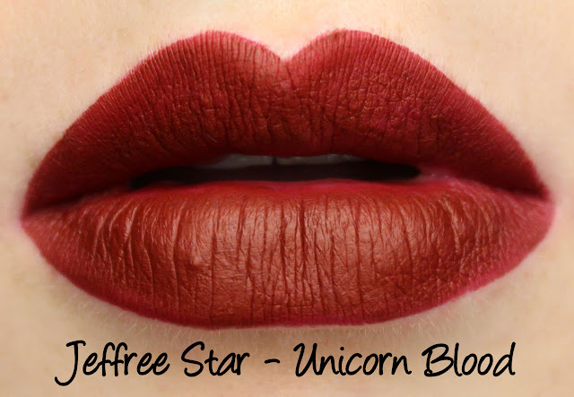 Jeffree Star Velour Liquid Lipstick - Unicorn Blood Swatches & Review