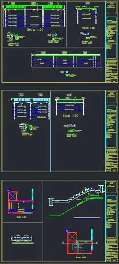Structural CAD drawings (dwg) - drawings of a full