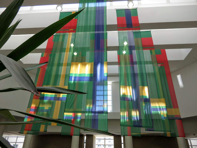 Tartan flags at Carnegie Mellon University in Pittsburgh