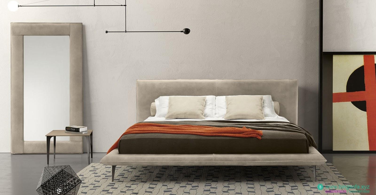 Mẫu giường bọc nỉ cao cấp GN22