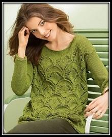 pulover spicami s krupnim uzorom