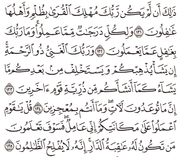 Tafsir Surat Al-An'am Ayat 131, 132, 133, 134, 135