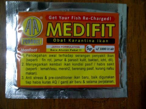 medifit obat arwana stress