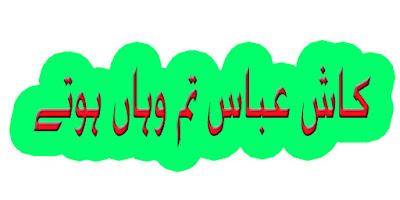 Kash Abbas Tum Vahan Hotay Noha Lyrics Irfan Haider