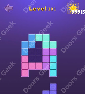 Cheats, Solutions, Walkthrough for Move Blocks Easy Level 101