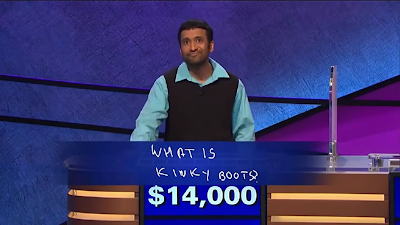 Jeopardy contestant answers Kinky Boots instead of Jewish hymn Rock of Ages