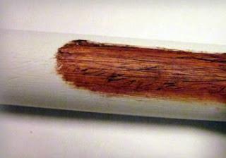 Cat minyak pvc menjadi seperti struktur kayu