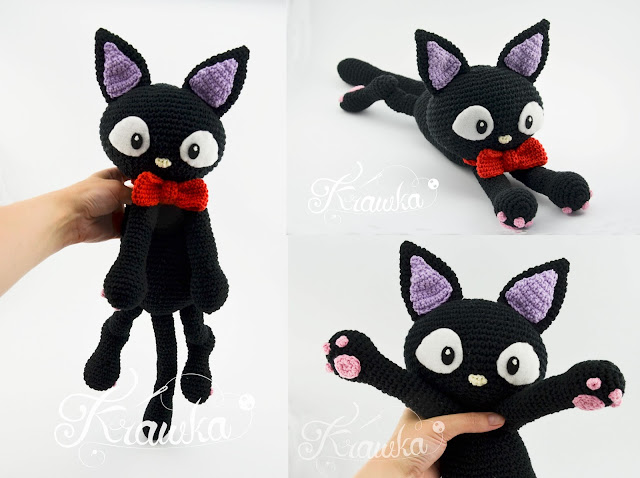 Krawka: Jiji the black cat pattern by Krawka - Kiki delivery service, witch, halloween