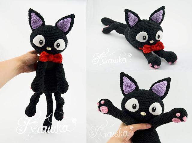 Krawka: Jiji the black cat pattern by Krawka - Kiki delivery service, witch, halloween