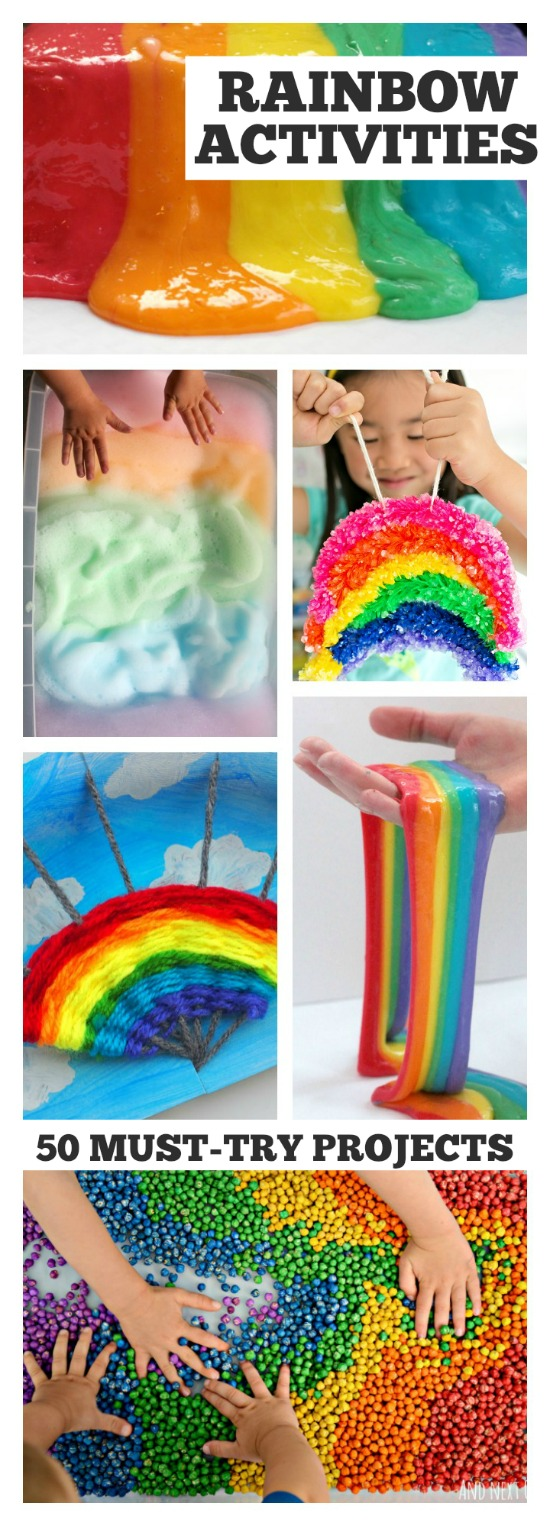 50 MUST-TRY RAINBOW PROJECTS FOR KIDS- these are so cool!
