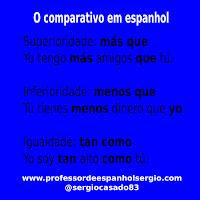 O comparativo em espanhol, espanhol, aprender espanhol, curso de espanhol, gramática espanhol, dicas de espanhol