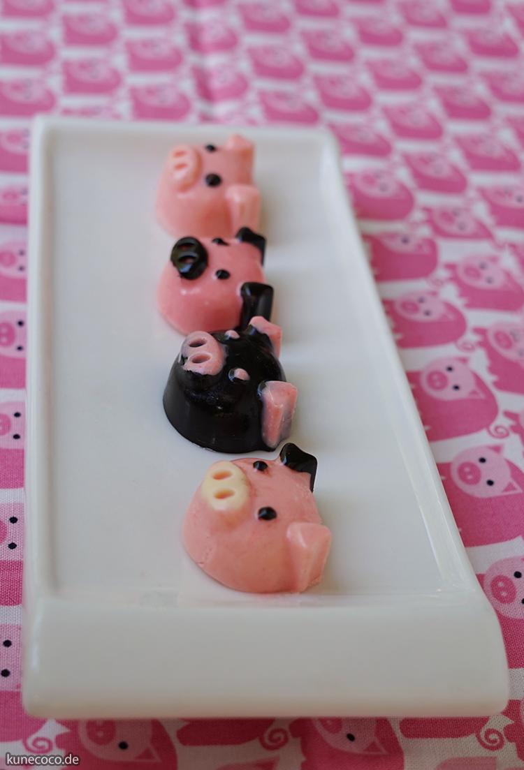 KuneCoco: Schokopralinen in Schweinsform