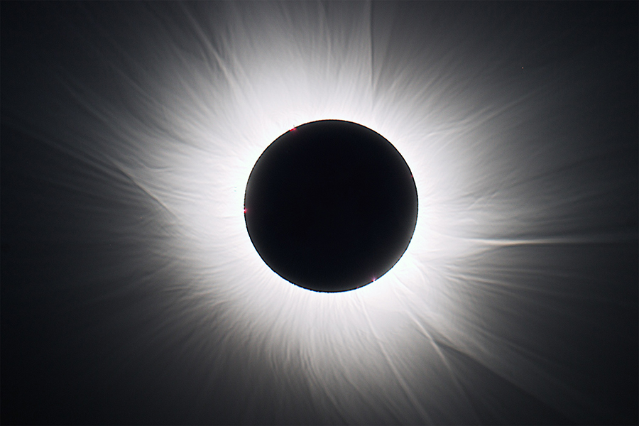 Solar Corona from Total Solar Eclipse 2015
