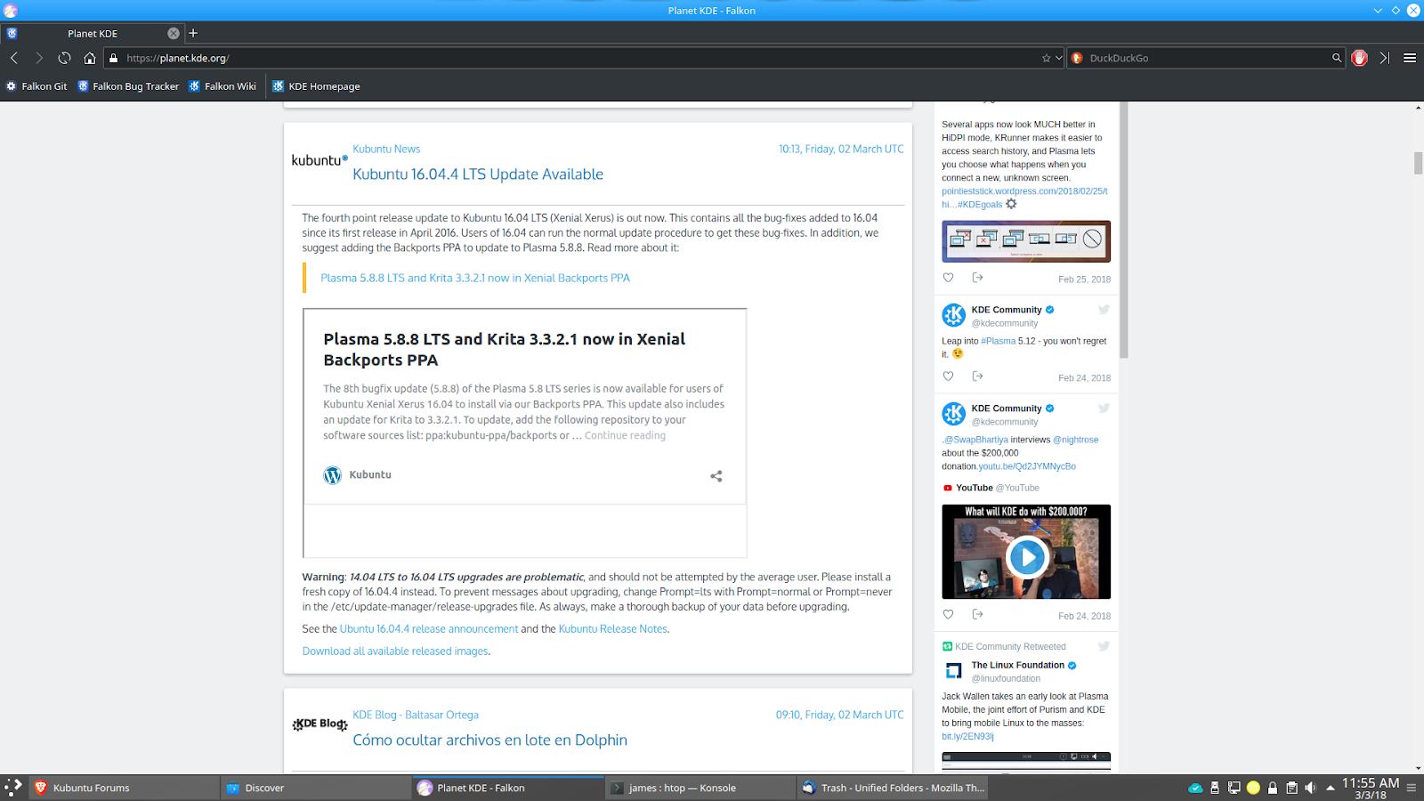 K * Digest!: KDE Web Browser Falkon Gets New Branding And