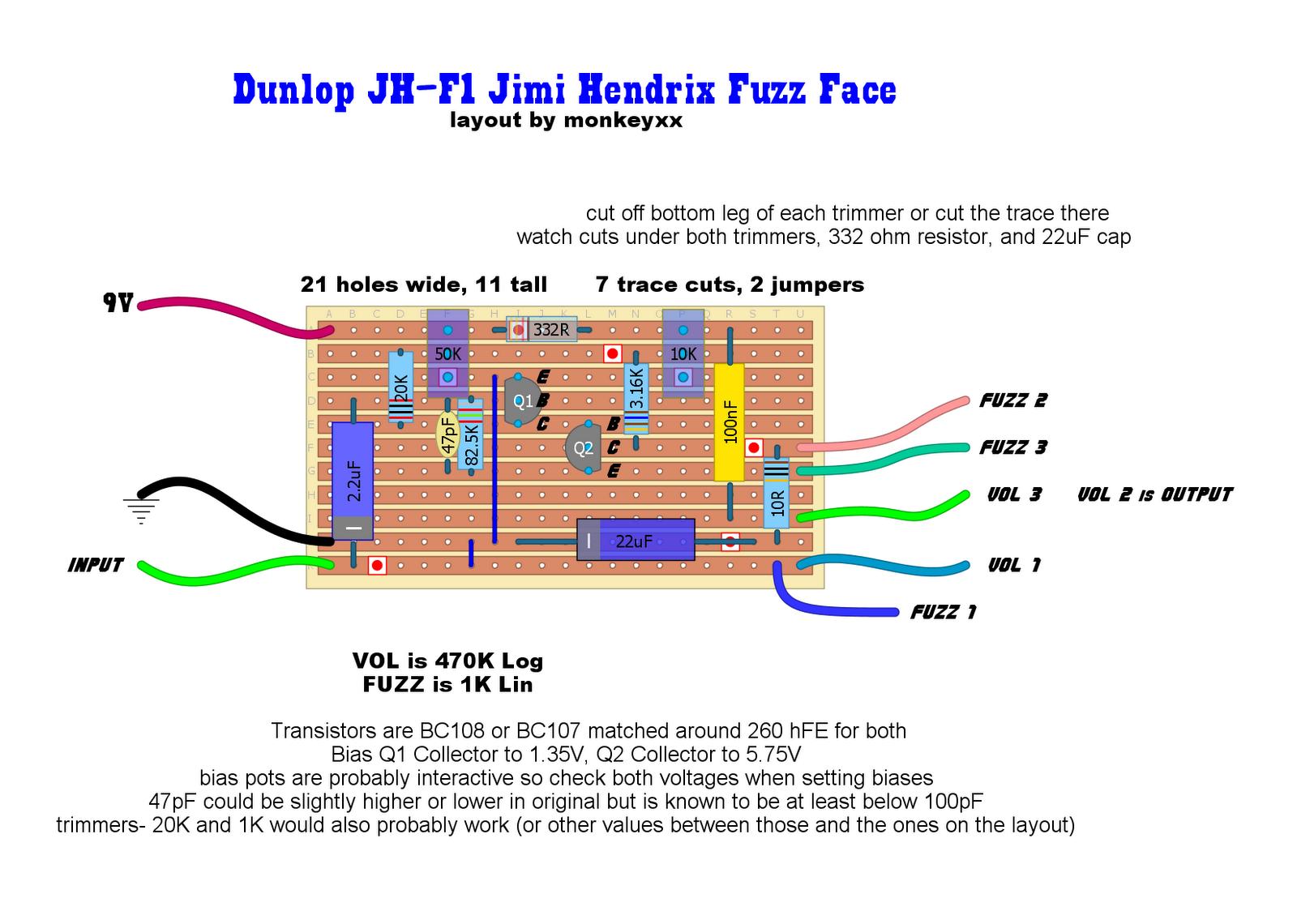 Fuzz Face Wiring Diagram Bf Falcon Ute Tail Light Proco Rat Schematic Overdrive Elsavadorla