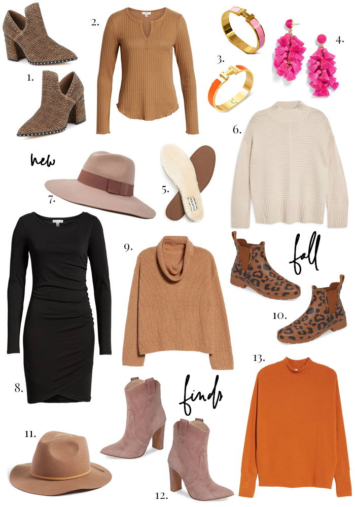 new fall clothing shoe and accessory purchases