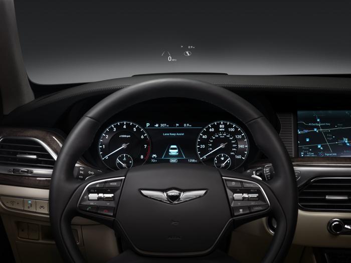 Genesis G90 interior views