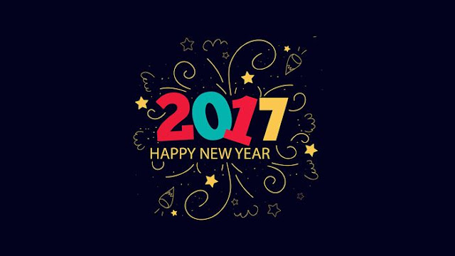 Happy New Year 2017 HD Wallpaper 1