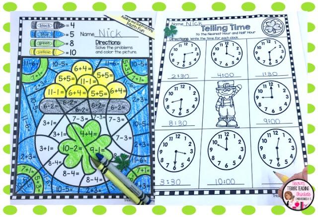 https://www.teacherspayteachers.com/Product/St-Patricks-Day-Math-Activities-3019168