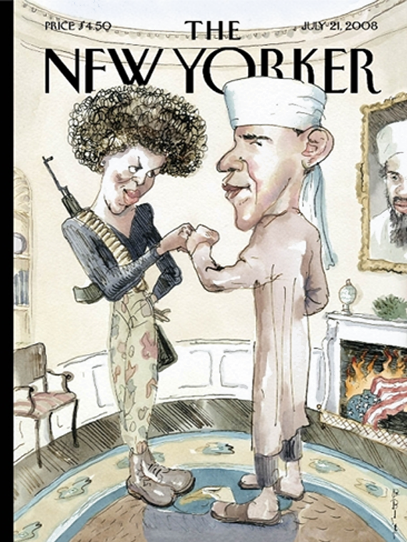 The New Yorker july 2008 cover