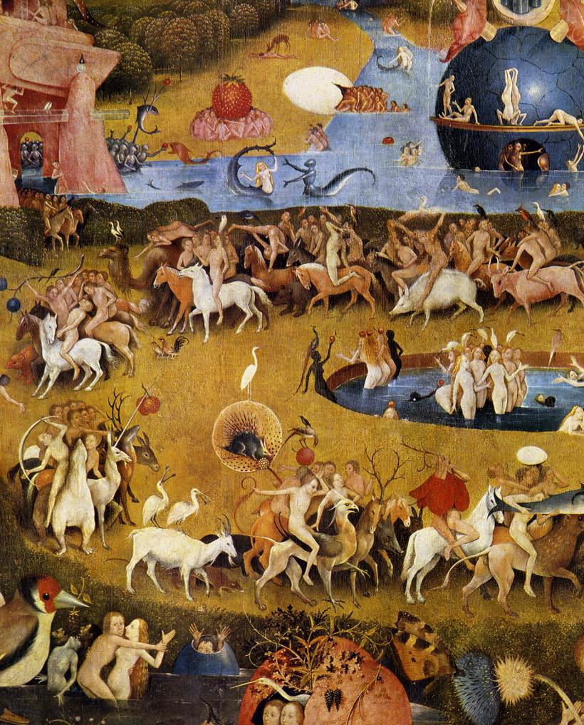 One year one painting a day hieronymus bosch and triptych - Hieronymus bosch garden of earthly delights ...