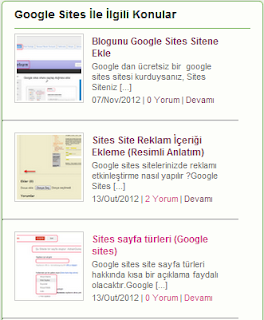Google Sites Kategoriler