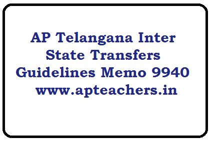 AP Telangana Inter State Transfers Guidelines Memo 9940 ...