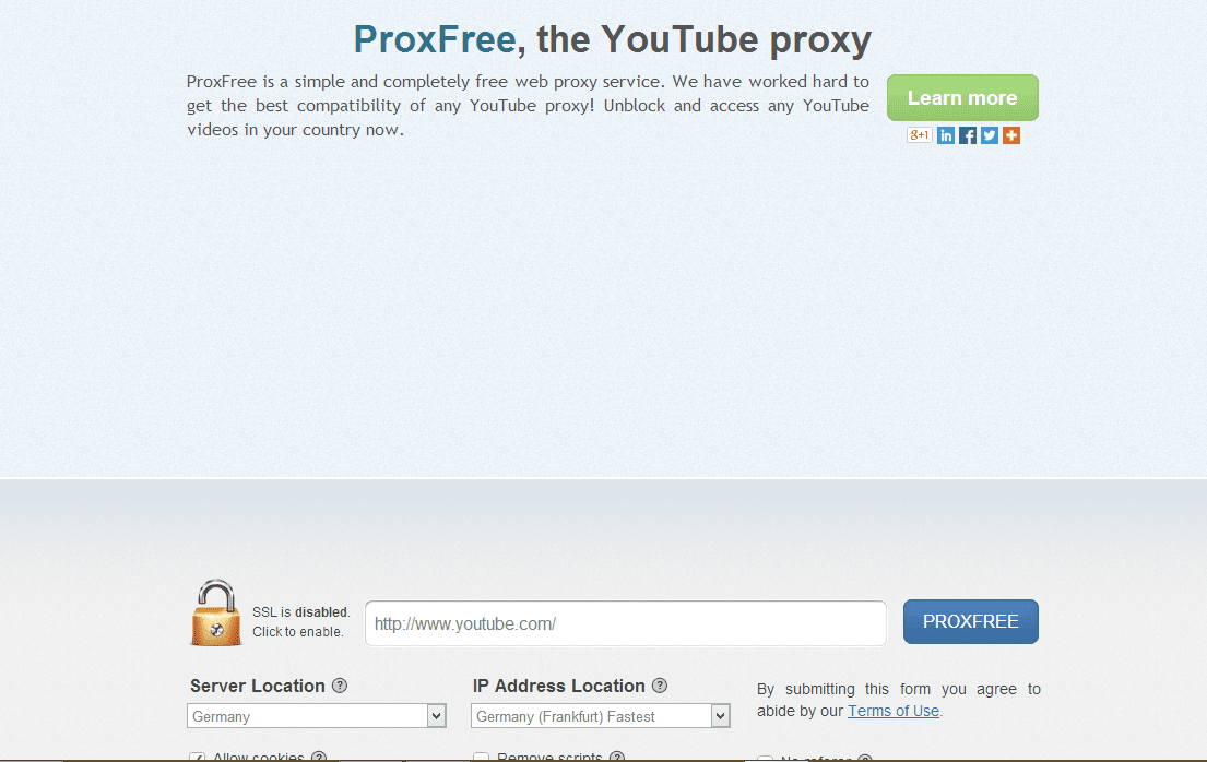 Proxfree youtube