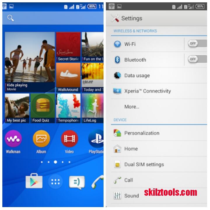 Xperia E4 Bugless Rom For Infinix Hot Note - SkilsToolz