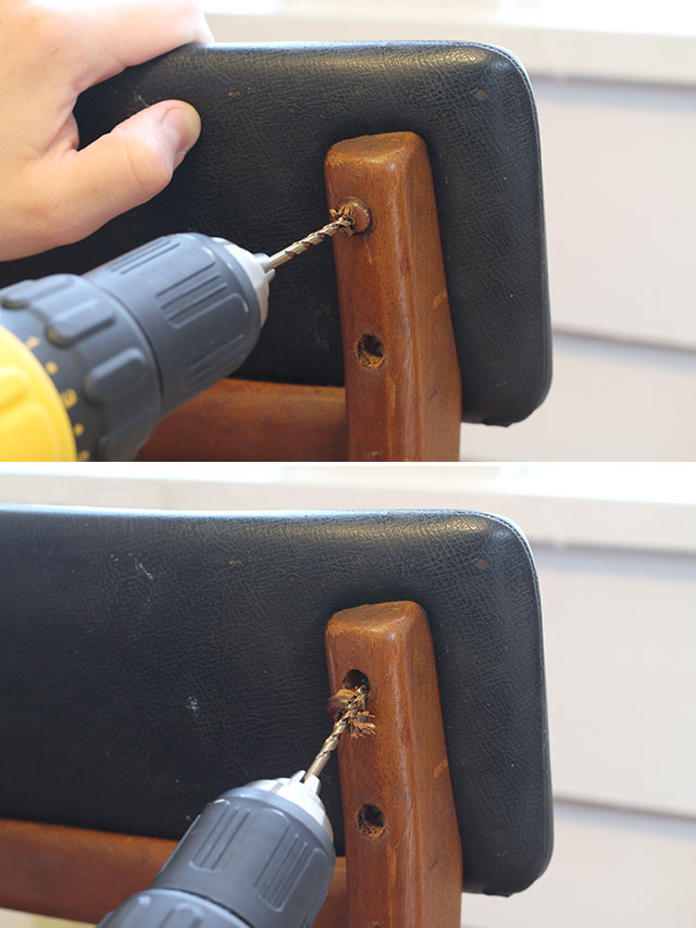 How to remove wood plugs in furniture