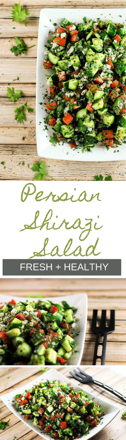 PERSIAN SHIRAZI SALAD #salad #diet