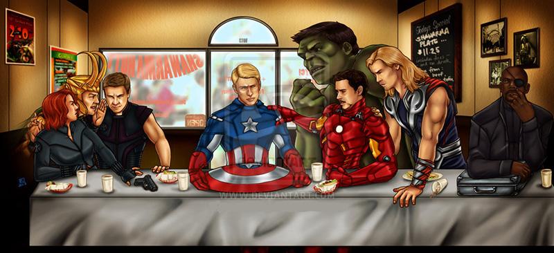 The Avengers Last Supper by swankkat