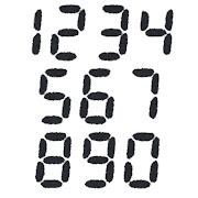 デジタル数字のイラスト文字