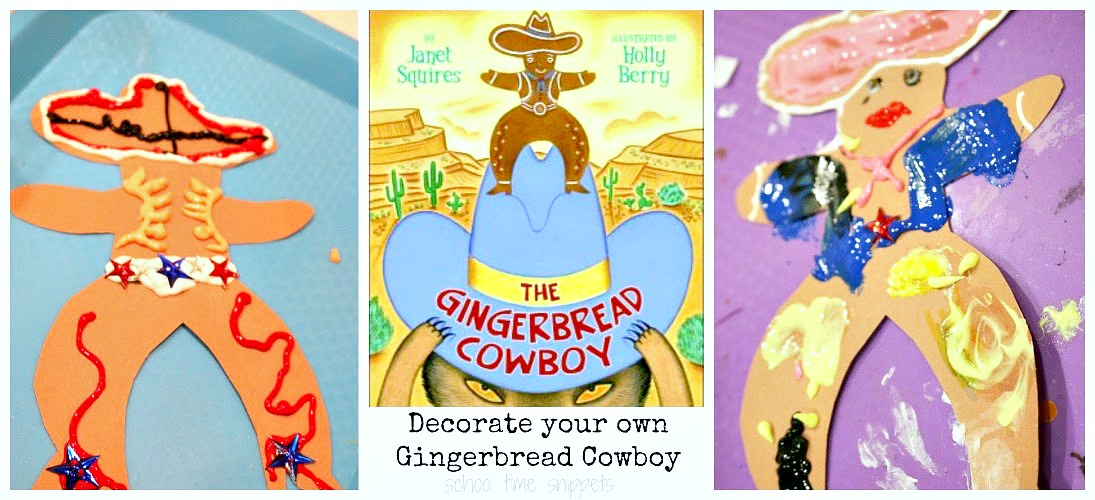 puffy paint gingerbread cowboy activity