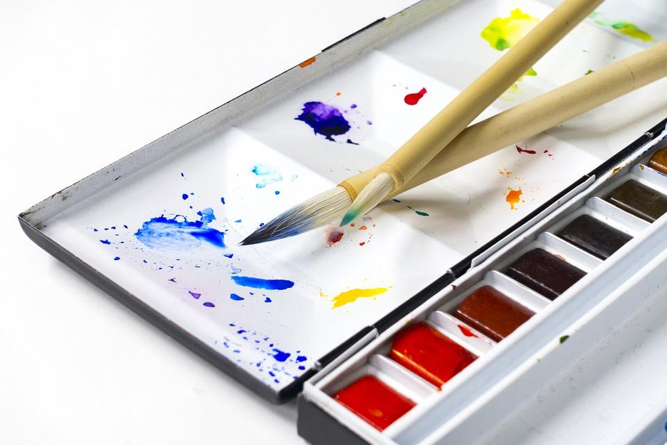 Culori de apă, făcute în casă, acuarele, tempera
